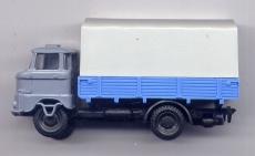 IFA W50, Pritsche / Plane, grau / blau
