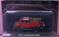 Feuerwehr Horch H3A TLF-15, rot, DDR
