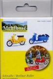Schwalbe, gelb + Berliner Roller, blau