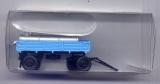 Anhänger mit 2 Tanks, LPG-Viehtränke, blau