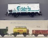 2achsiger Bier-Kühlwagen Carlsberg, DSB, weiß