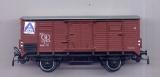 2achsiger Gedeckter Güterwagen, Aldi-Aufkleber, SNCB, braun