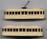 Straßenbahn-Zug, beige