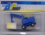 DDR-Bagger T-174, blau, schmale Baggerschaufel