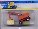 DDR-Bagger T-174, orange, schmale Baggerschaufel