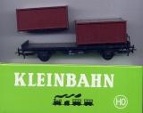 2achsiger Containerwagen, braune Container