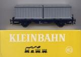 2achsiger Containerwagen, silberne Container